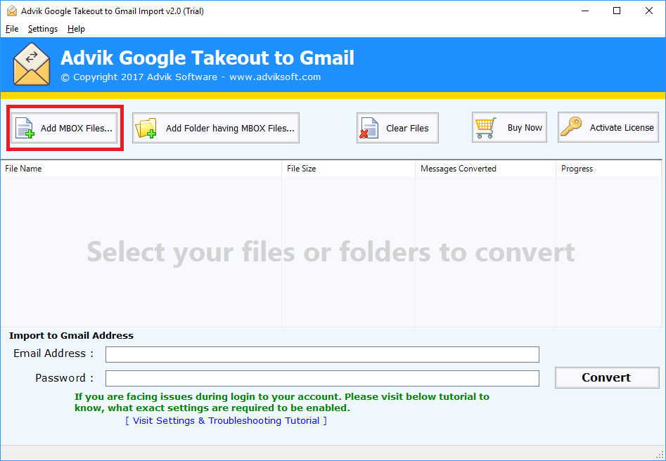 google takeout to gmail