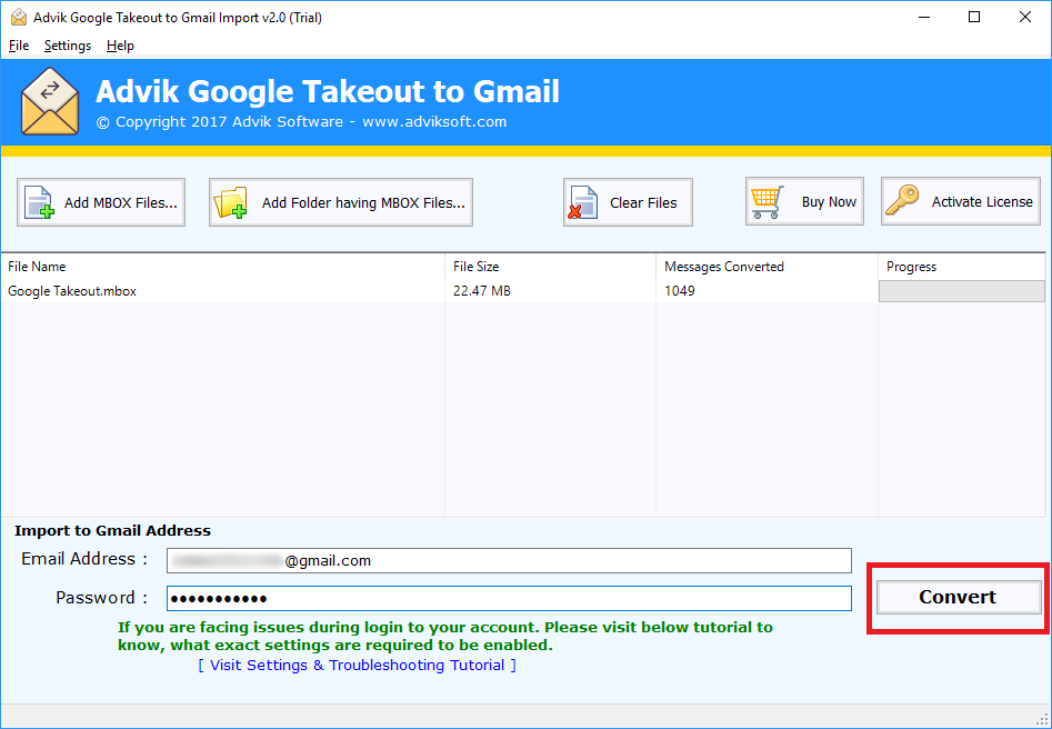 google takeout to gmail account