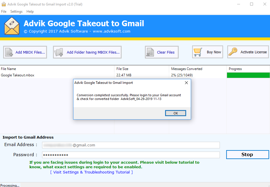google takeout to gmail import