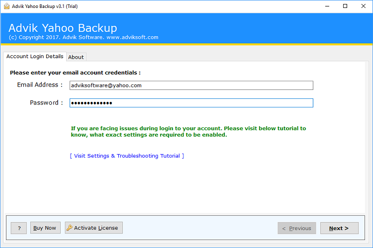 Download PST from Yahoo Mail