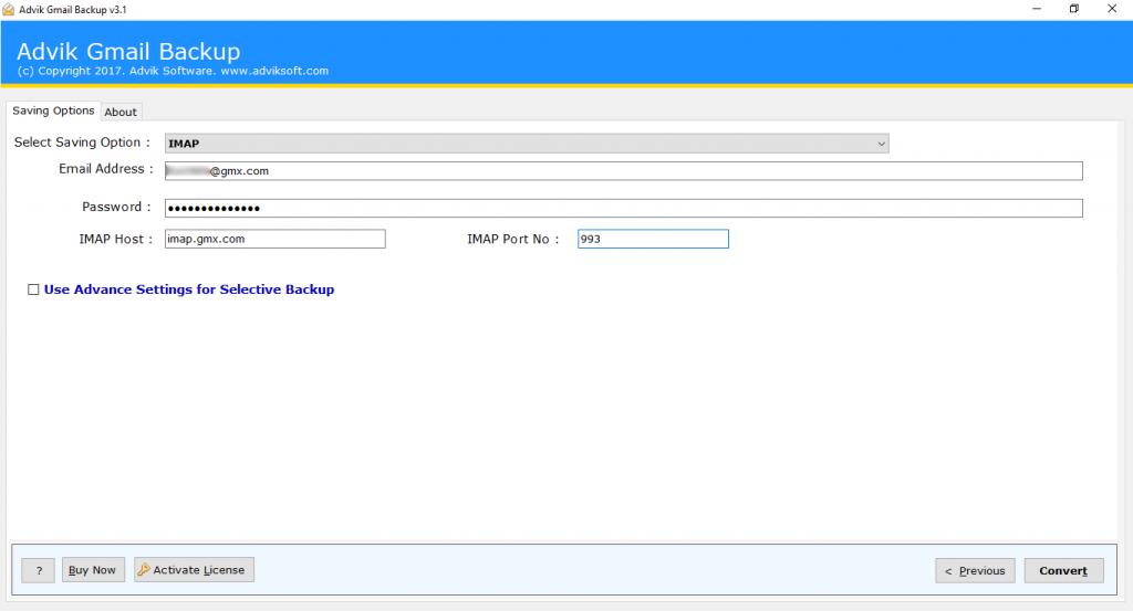 gmail to gmx mail