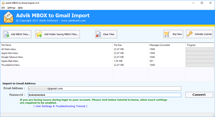 mbox to gmail import