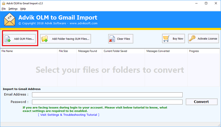 import olm to gmail manually